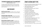 Street action safety & rights